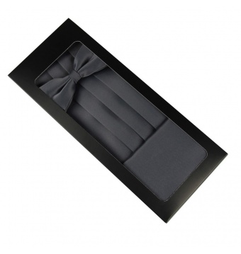 Šedý smokingový pás v krabičce