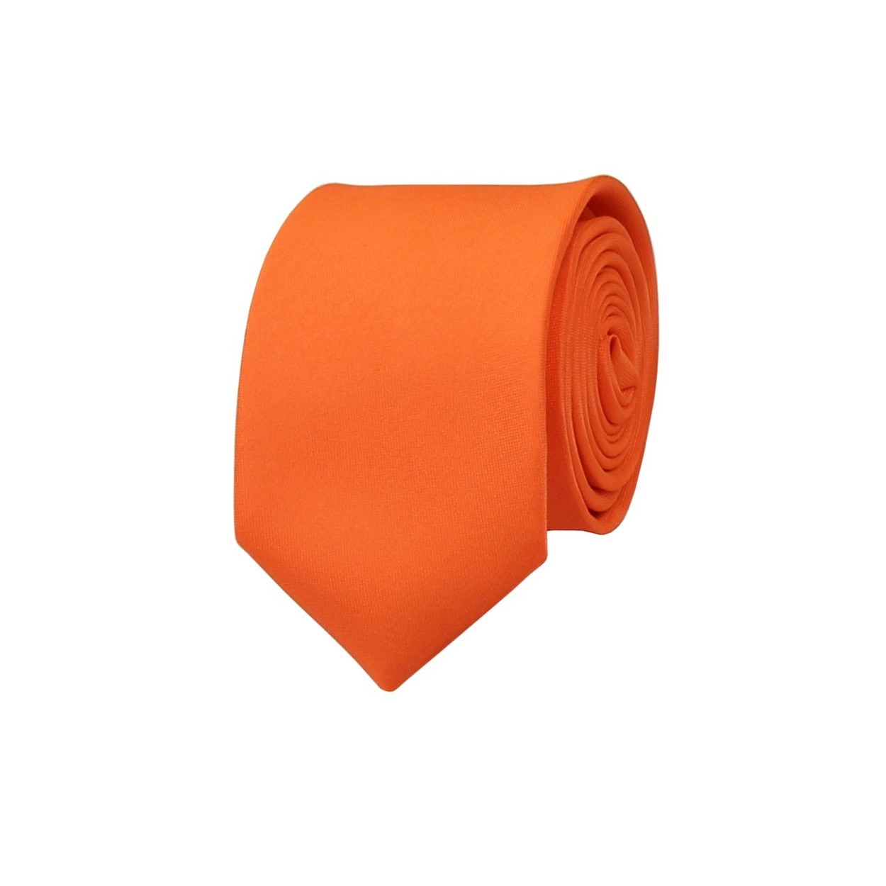 Zářivě oranžová pánská kravata