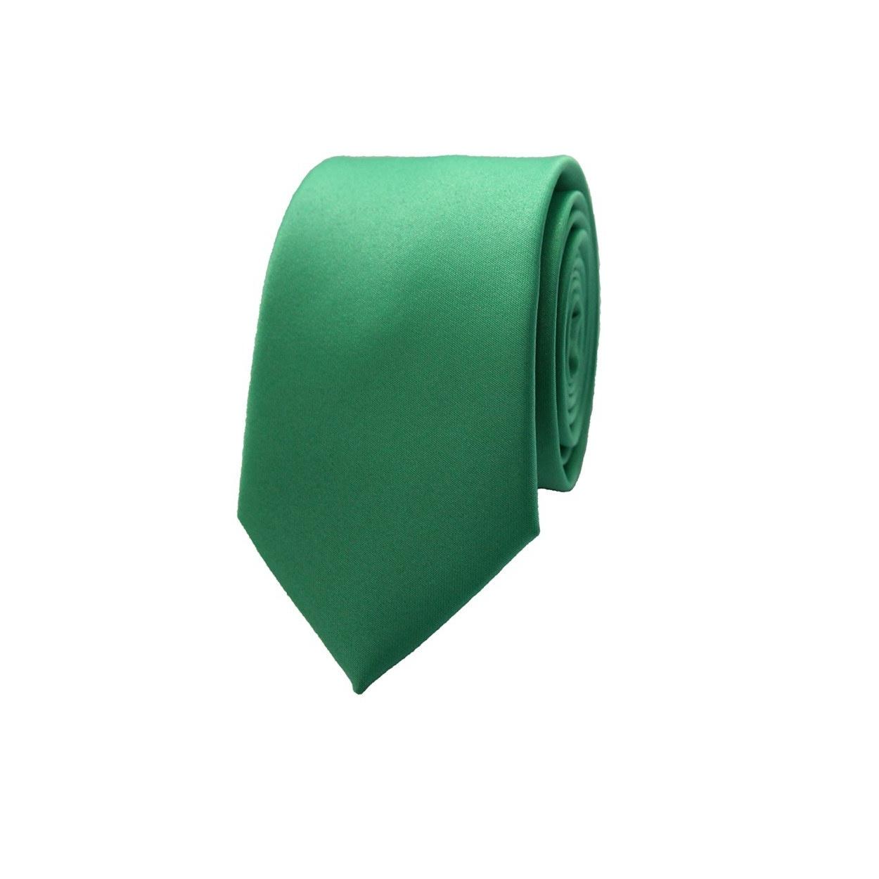 Trávově zelená pánská kravata