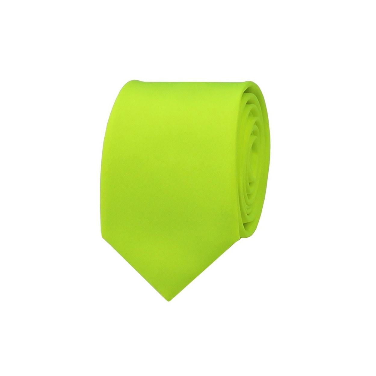 Neonově zelená pánská kravata