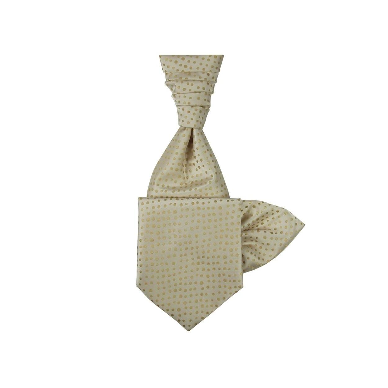 Šampaň svatební kravata s kapesníčkem