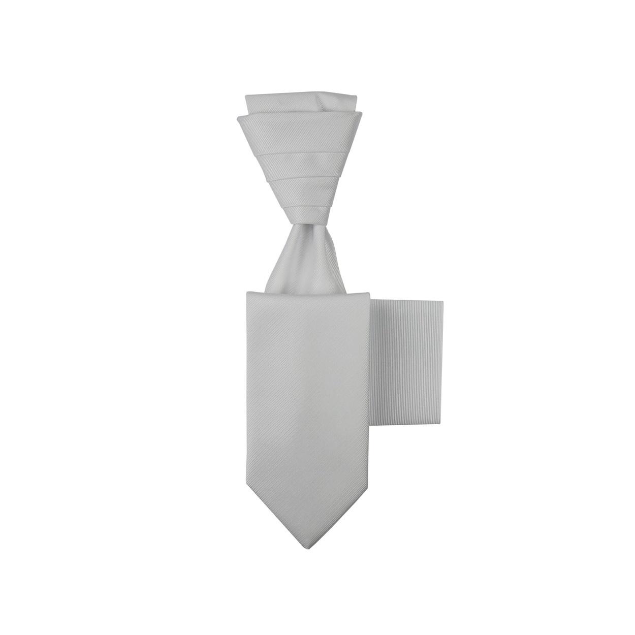 Bílá svatební kravata s kapesníčkem - Regata