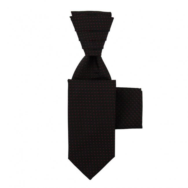 Černá svatební kravata s kapesníčkem - Regata
