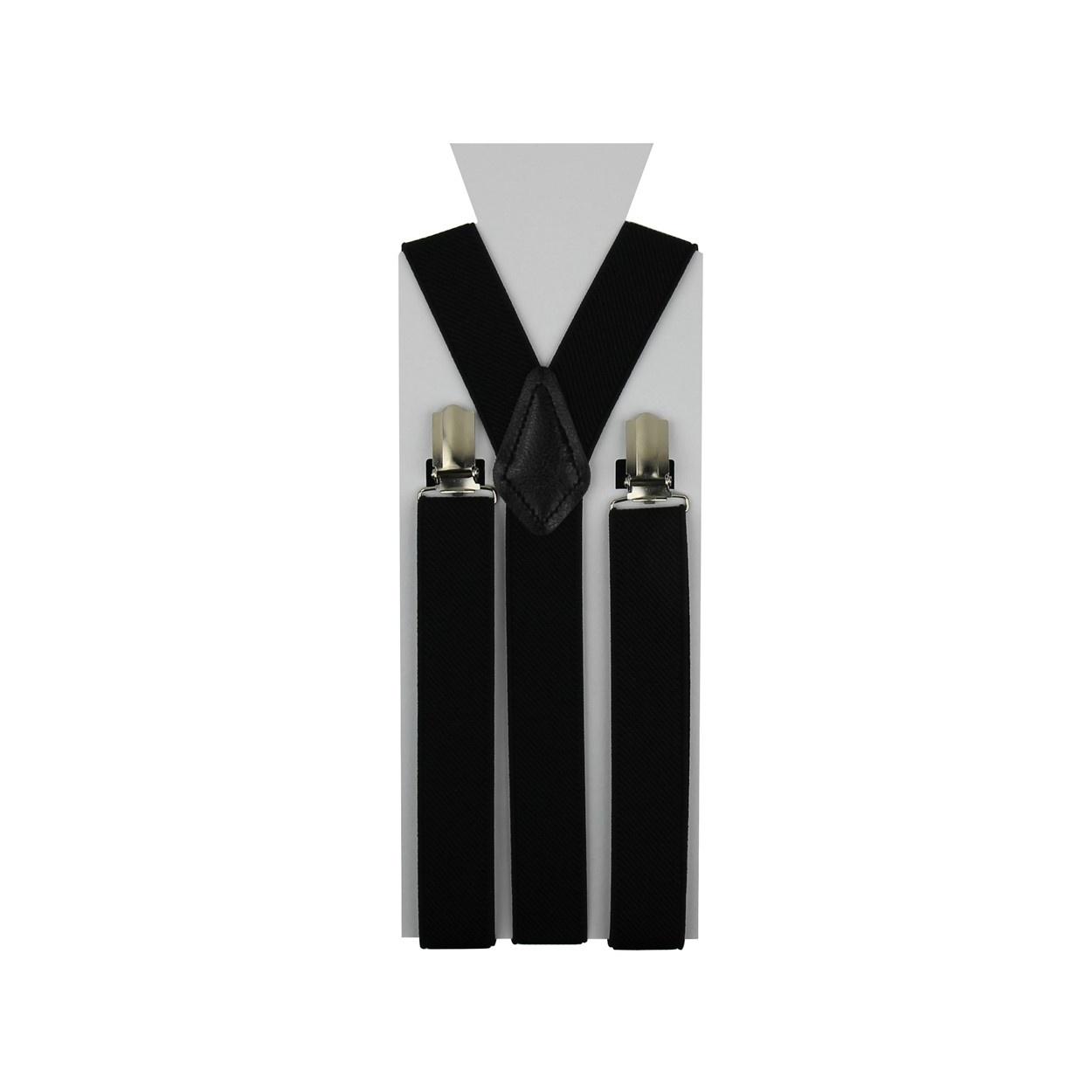 Černé pánské šle - kšandy 110cm