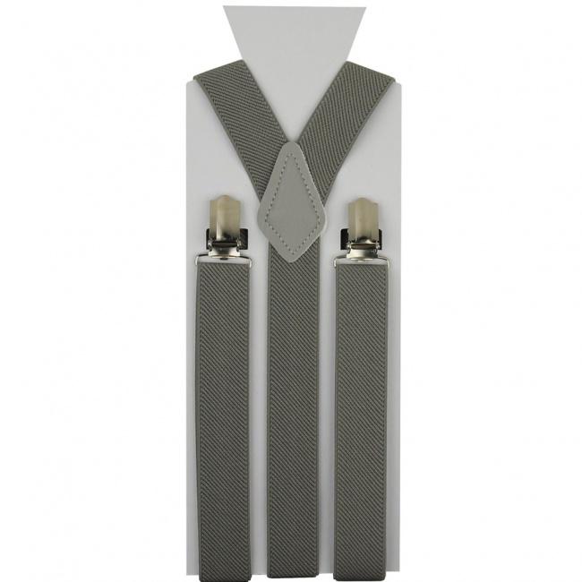 Šedé pánské šle - kšandy 110cm
