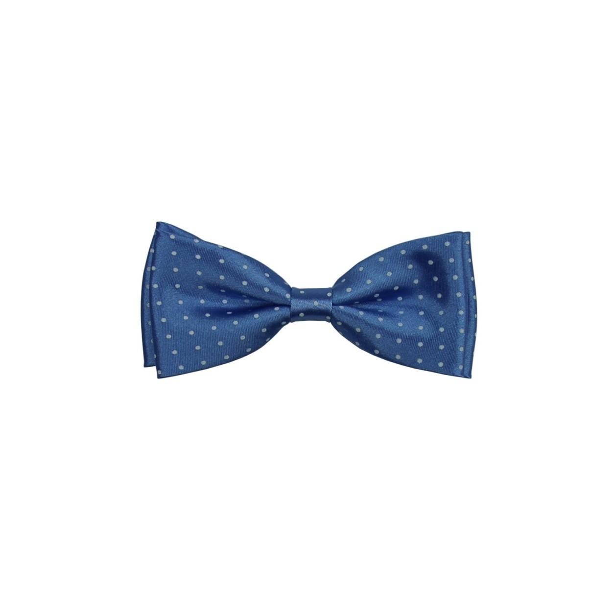 Světle modrý pánský motýlek s puntíky