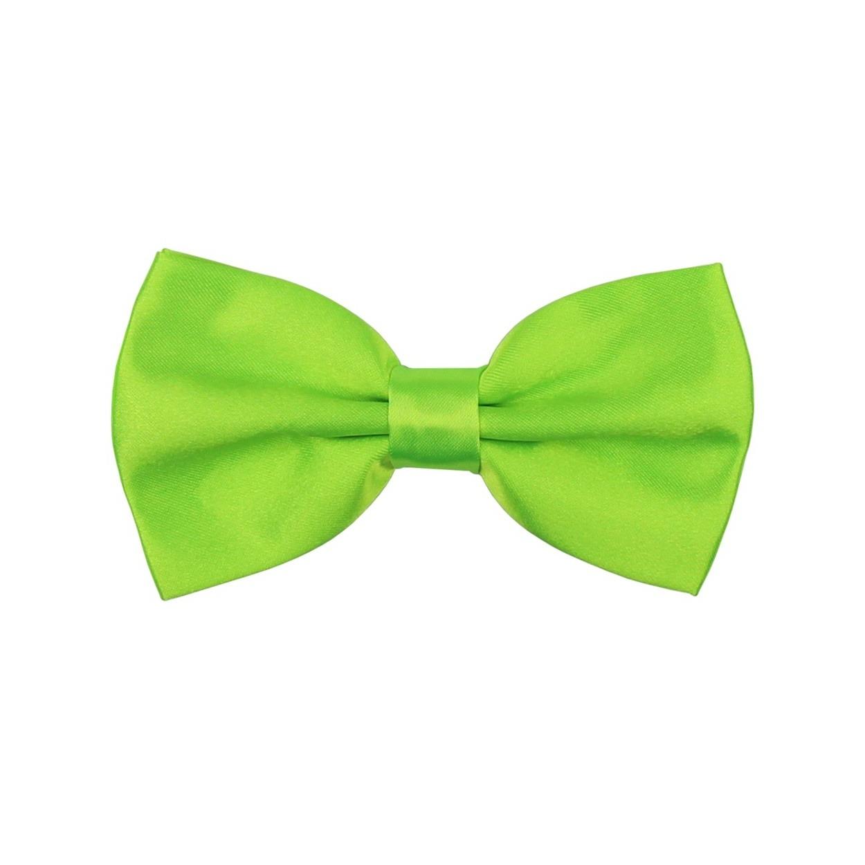 Zelený saténový pánský motýlek