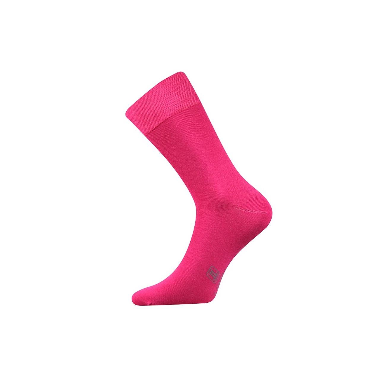Tmavě růžové pánské ponožky Decolor
