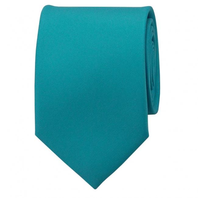 Tyrkysová pánská kravata matná