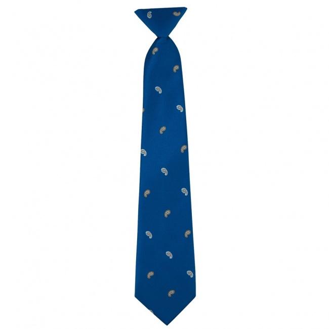 Modrá dětská kravata s paisley vzorem