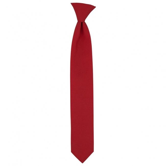 Červená dětská úzká kravata jednobarevná