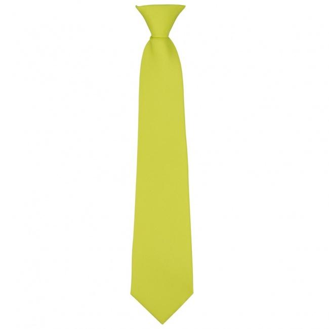 Žlutá dětská kravata jednobarevná