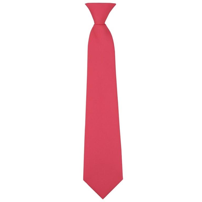 Neonově růžová dětská kravata jednobarevná