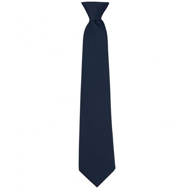 Tmavě modrá dětská kravata jednobarevná