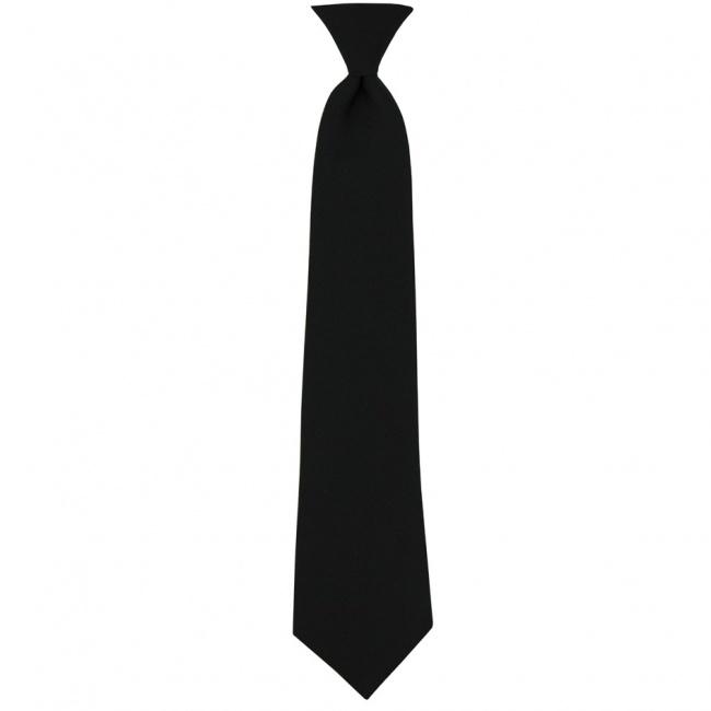 Černá dětská kravata jednobarevná