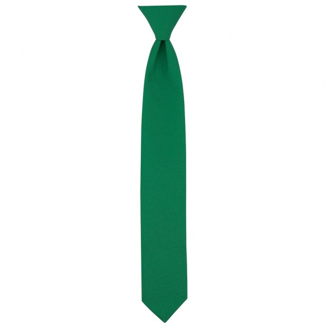 Zelená dětská úzká kravata jednobarevná